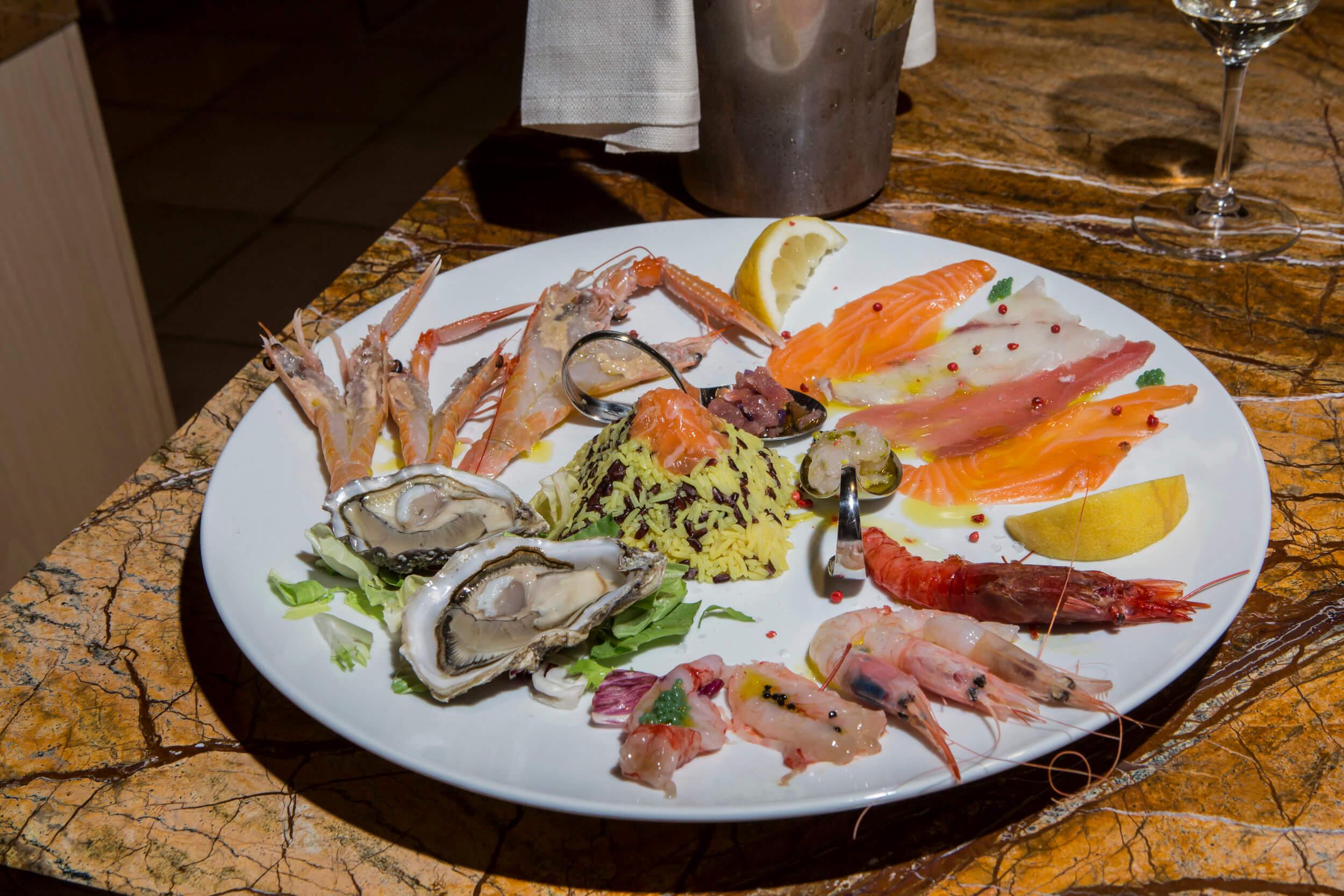 Ristorante di pesce Le Vele Roma frutti di mare appena pescati