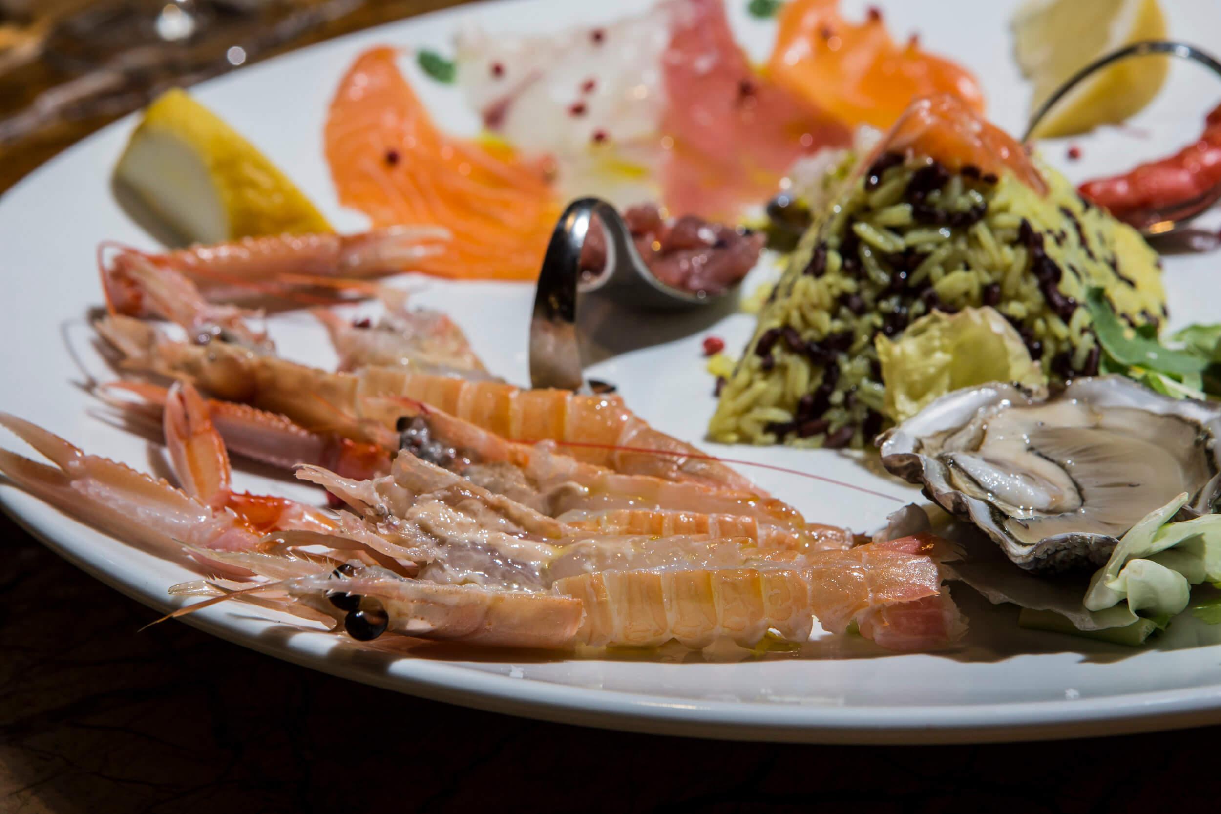 Ristorante di pesce Le Vele Roma frutti di mare freschissimi