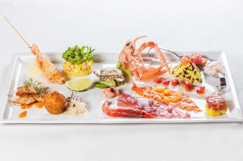antipasti di mare freschissimi ristorante di pesce roma le vele