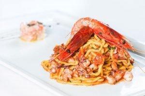 Ristorante di pesce Le Vele Roma pasta gamberi
