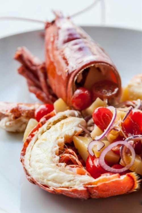 Aragosta appetitosa al Ristorante di Pesce Le Vele a Roma