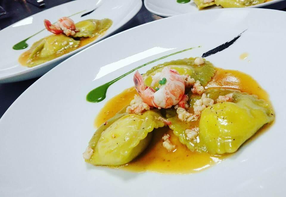 Ravioli di pesce freschissimo ristorante di pesce roma le vele