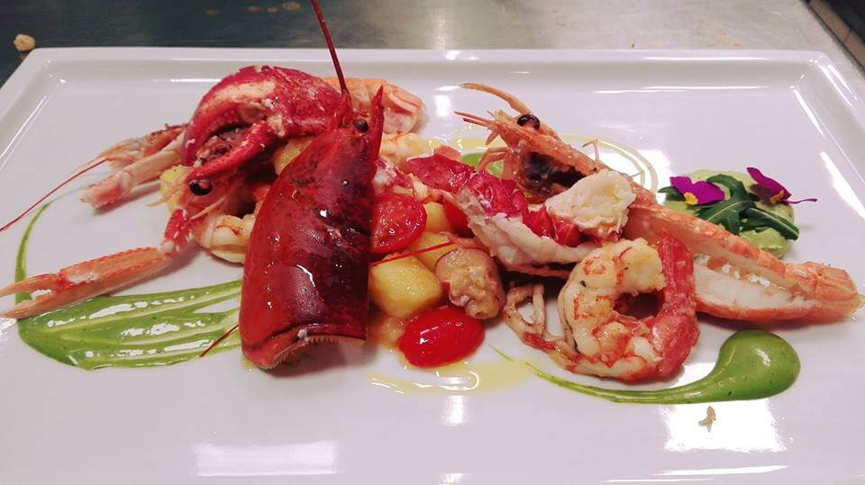 Crostacei freschissimi ristorante di pesce roma le vele