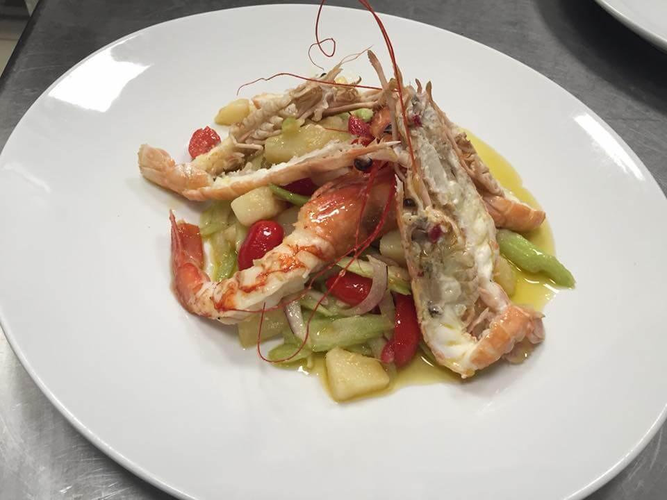 gamberoni freschissimi ristorante di pesce roma le vele